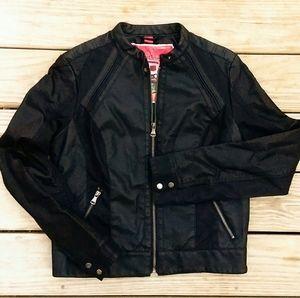 **Bernardo** Vegan Leather Black  Moto Jacket